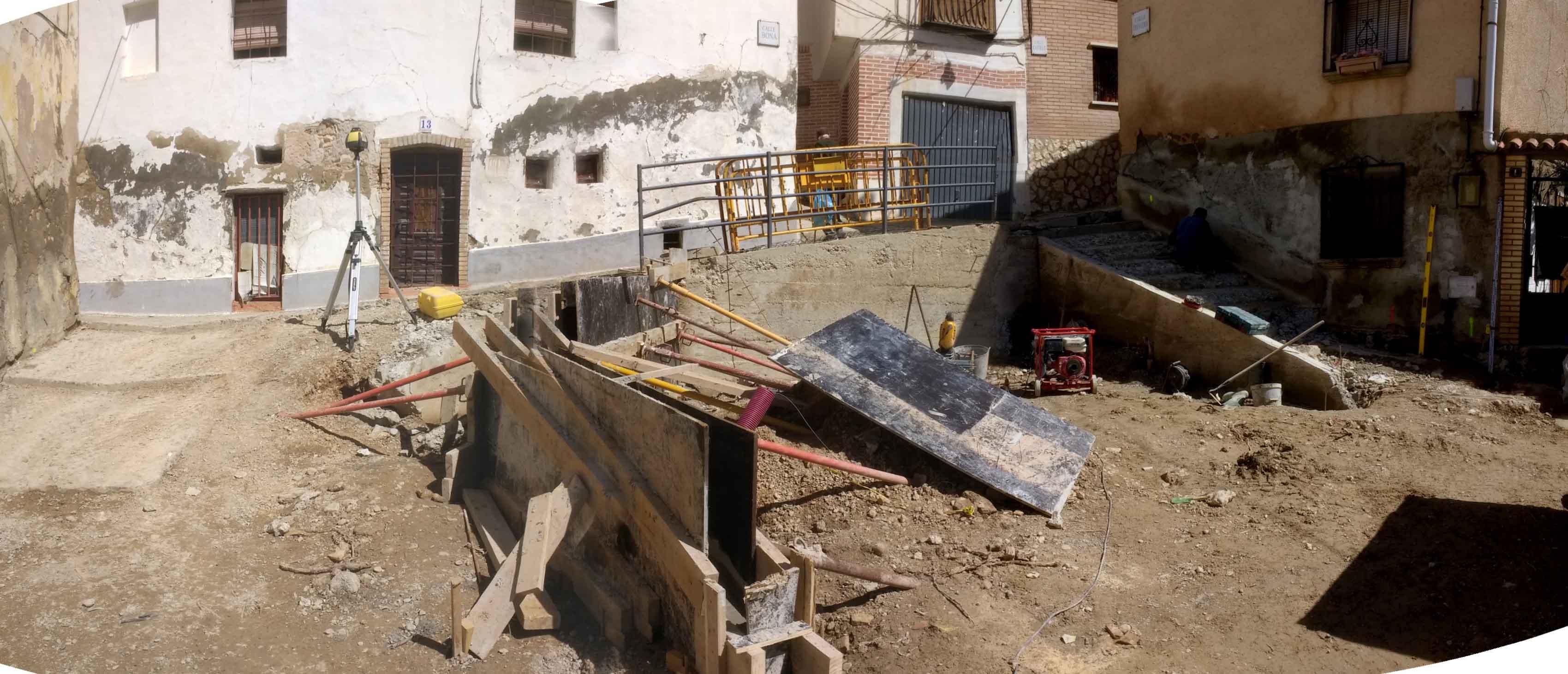 Reforma de la Plaza Planilla Encofrado de Muros
